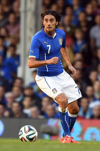 Alberto Aquilani of Italy in action during the International Friendly match between Italy and Ireland at Craven Cottage on May 30, 2014 in London