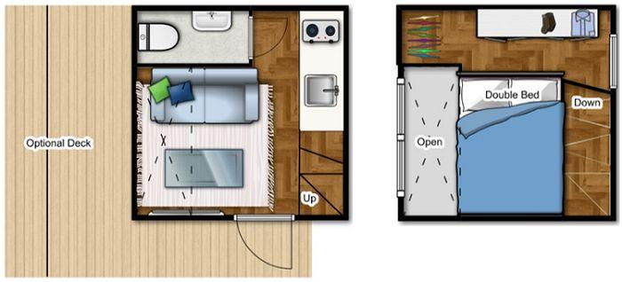 The nomad micro home is perfect for cold climates humble for Interni abitazioni