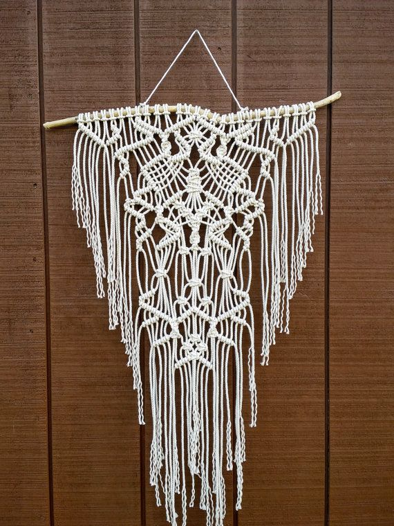 SALE / Macrame Wall Hanging / Woven Fringe by WallHuggerHandmade