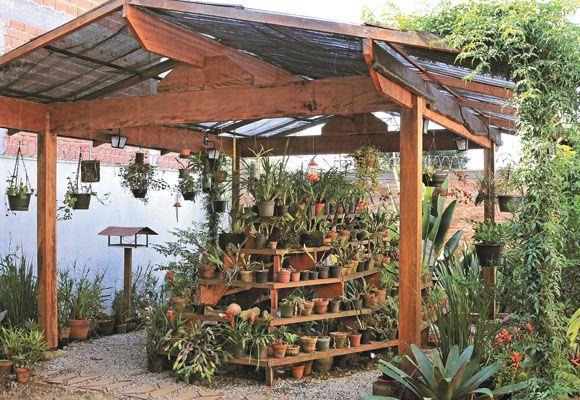 Exemplo de orquidário - Paisagismo - Plantas, Flores e Jardins