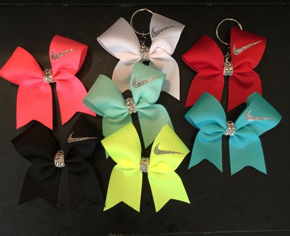 Nike cheer bow keychains Many COLORS Match by CreativelyGlamorous