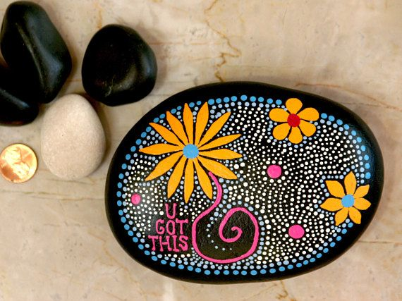 Rock Art Painted Rock Hand Painted Zen Doodles