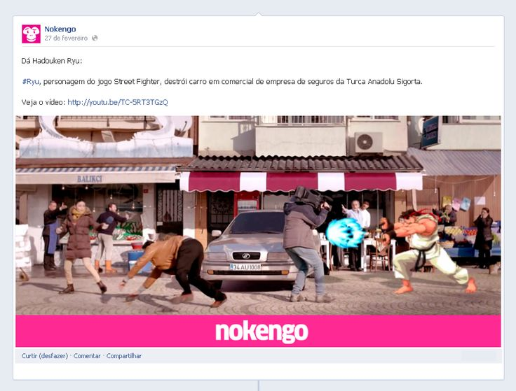 #Hadouken | #Ryu, personagem do jogo #StreetFighter, destrói carro em #comercial.