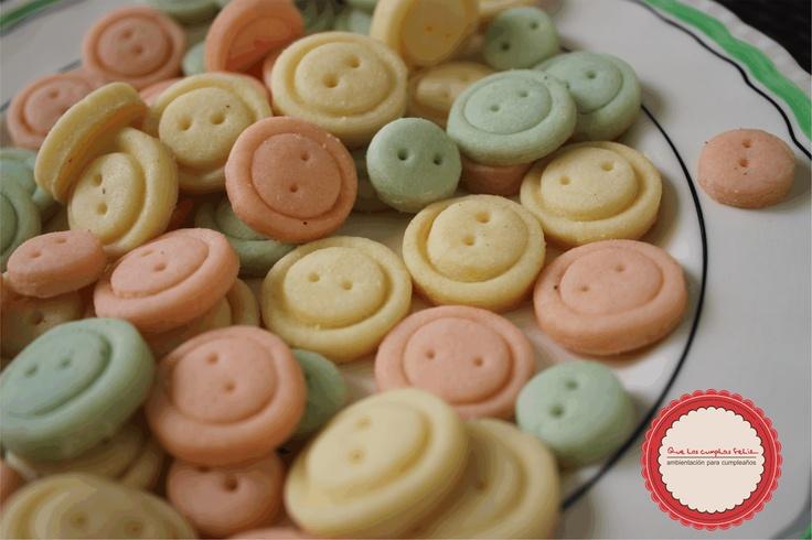 Cookies con forma de botón