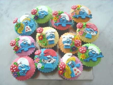 Smurf & Smurfette CupcakesCrazy Cupcakes, Children Parties, Smurfy Cupcakes, Cupcakes Ideas, Cuppy Cake, Smurfette Cupcakes, Cups Cake, Creative Cupcakes, Smurfs Cupcakes