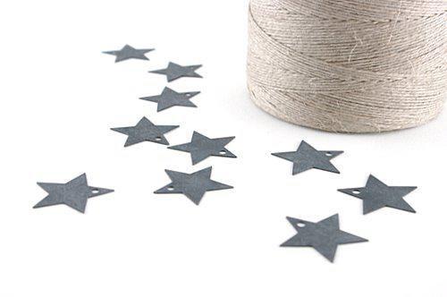 10 Mini étoiles en zinc patiné