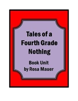 08c12c52910be9fd64d0f14c3434e693 Tales Of A Fourth Grade Nothing Reading Response Questions on
