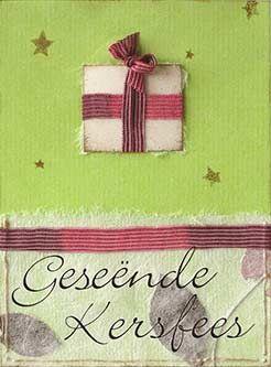 """""""Geseënde Kersfees"""" card by El-me, via Flickr~ """"Merry Christmas"""" in Afrikaans"""
