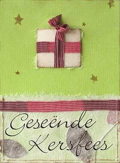 """Geseënde Kersfees"" card by El-me, via Flickr~ ""Merry Christmas"" in Afrikaans"