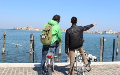 Cycling around Chioggia. Get to wander around this venetian island