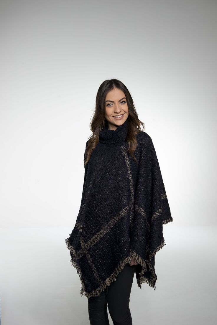 SAVE ME PONCHO Navy - Siss & Co.