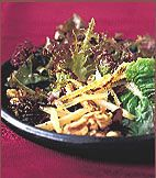 Miso-Glazed Burdock with Red Lettuces Recipe - I want to make this recipe healthier!
