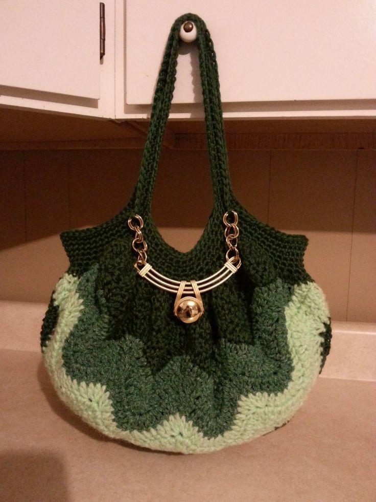 #Crochet Chevron Purse tutorial DIY handbag Learn crochet