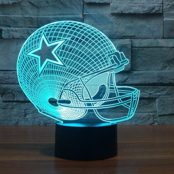 NFL DALLAS COWBOYS 3D LED LIGHT LAMP