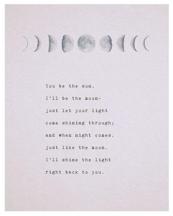 Liebesgedicht Sie sind die Sonne, ich bin der Mond