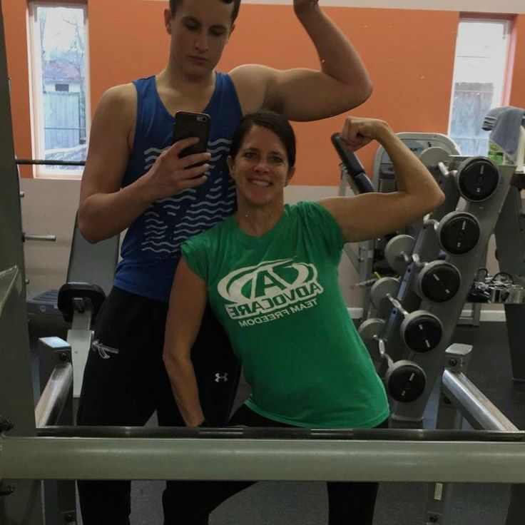 Fun day at the gym! When did my son get so big? Thanks for