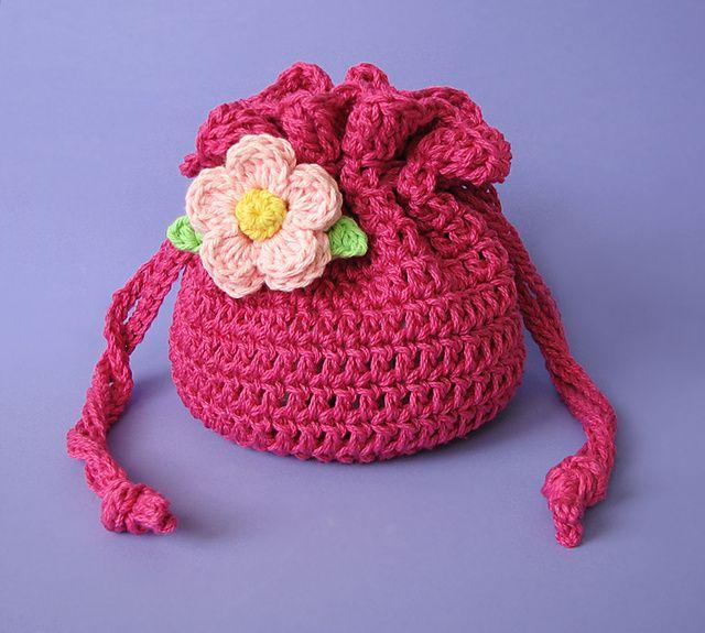 Drawstring Bag, crochet pattern by Kristy Ashmore
