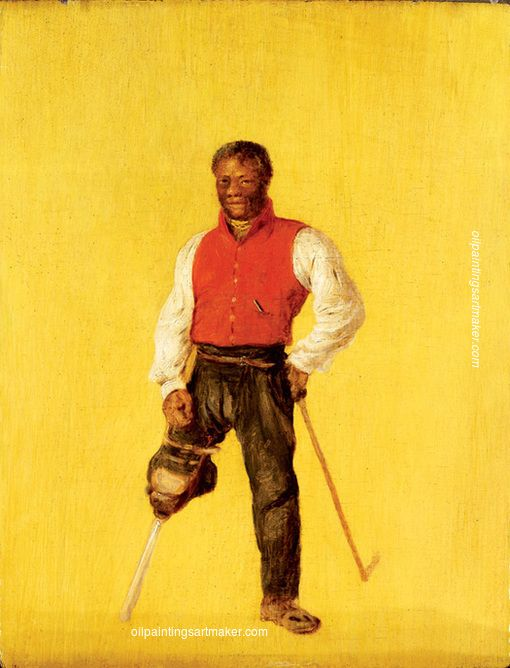 David Wilkie Billy Waters, mariner and street performer/ beggar - David Wilkie painting online, painting Authorized official website