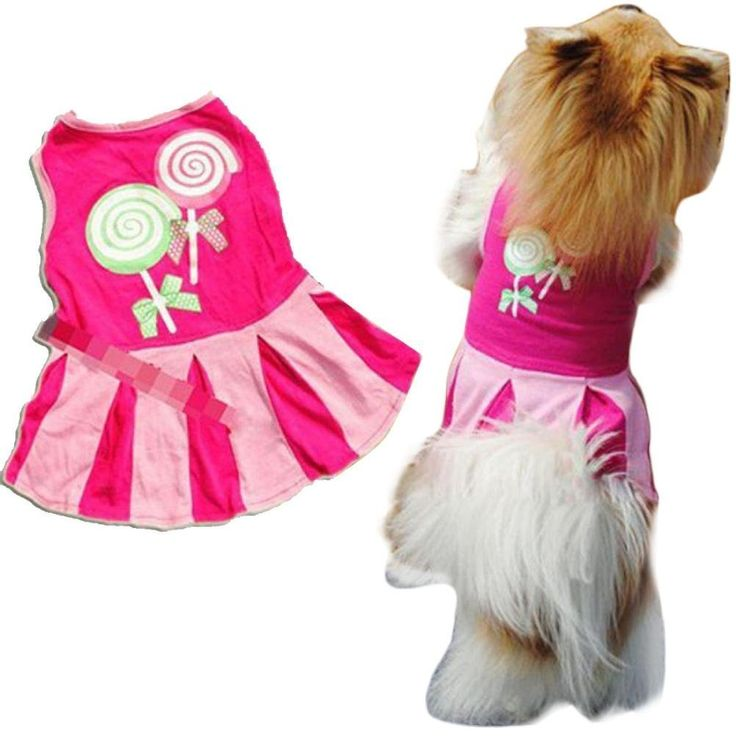 Anboo Candy Heart Circle Pattern Puppy Dog Doggie Apparel Clothes Hoodies Skirt Dress -- Startling review available here  : Dog Apparel and Accessories