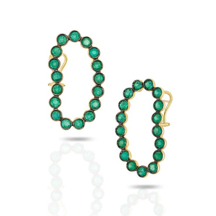 Ana Khouri green Lourdes earrings set with Gemfields emeralds. http://www.thejewelleryeditor.com/jewellery/article/gemfields-x-muse-jewelry-collaboration-everyone-is-talking-about/ #jewelry