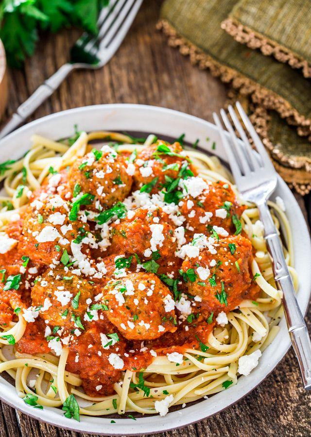 Cajun Meatballs in Fire Roasted Tomato Sauce - delicious cajun spiced meatballs…