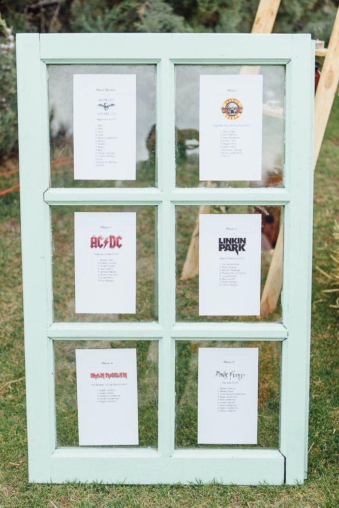 Lista de invitados para las mesas | Guest lists for the banquet