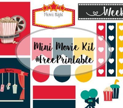 Miss Kellz Planning: Movie Mini Kit #FreePrintableStickers