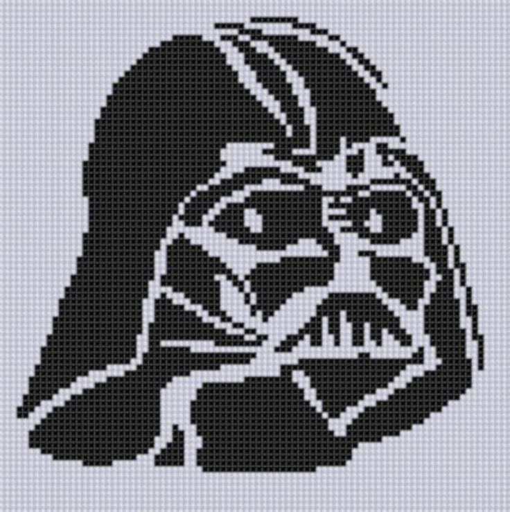 Darth Vader Stitch ... by bracefacepatterns | Embroidery Pattern - Looking for your next project? You're going to love Darth Vader Stitch Pattern  by designer bracefacepatterns. - via @Craftsy