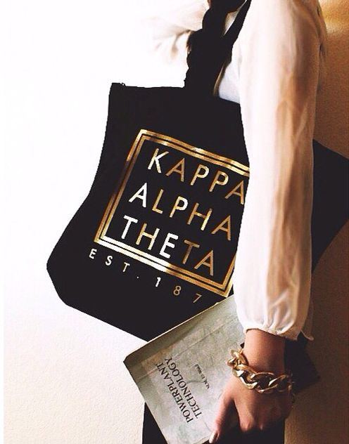 #KappaAlphaTheta #Theta #ΚΑΘ tote made by 224 Apparel