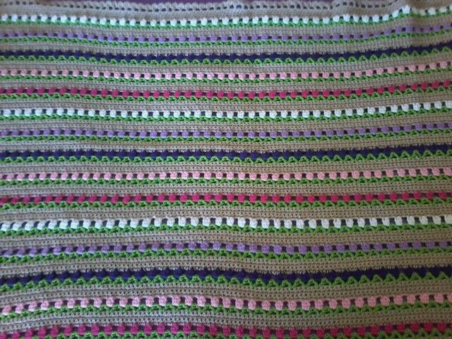This is a blanket I have crocheted, tulip pattern, This one is for Mary.
