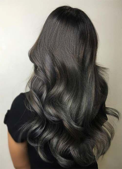 dark hair colors black brown