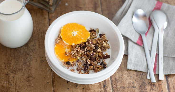 For a real kick-start to the morning, try this wholesome and moreish granola with its tantalizing combo of pumpkin and sesame seeds with apple, oats and Weet-Bix.