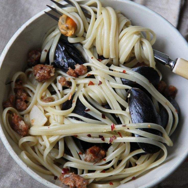 Chorizo and Mussel Pasta | Food & Wine