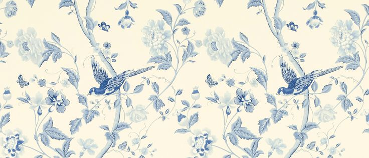 Summer Palace Royal Blue Floral Wallpaper at Laura Ashley – Stephanie Frew