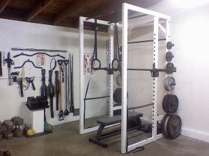 badass garage gym - look at that attachment wall!