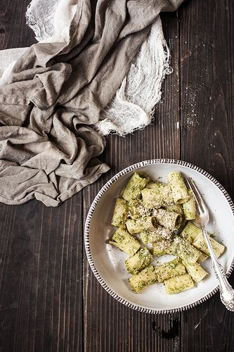 ... pasta with zucchini pesto ...