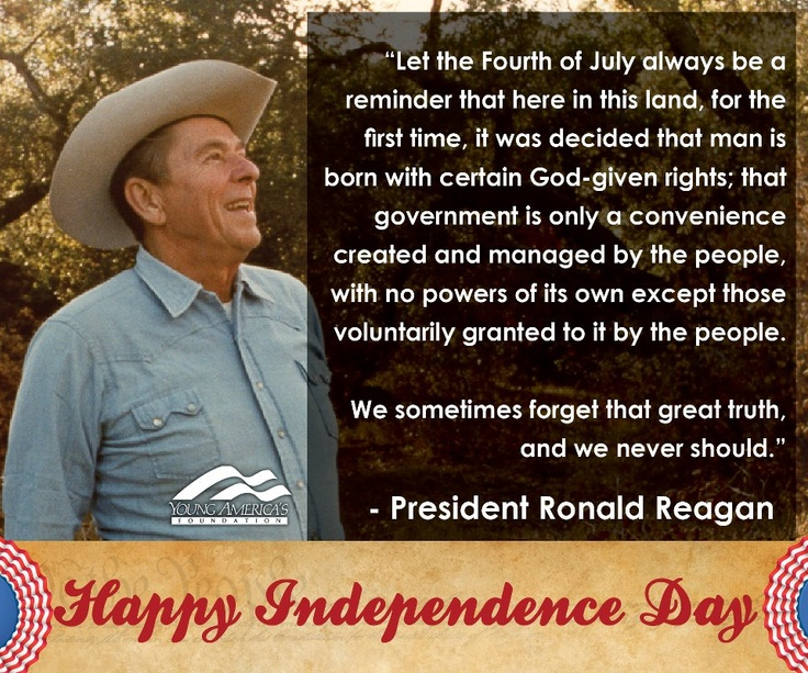 Let the Fourth of July always be a reminder that here in
