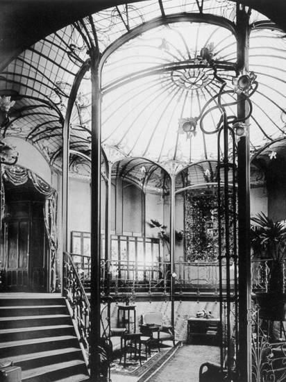 Entrance Hall to Viktor Horta's Art Nouveau Building, in Brussels Photographic Print