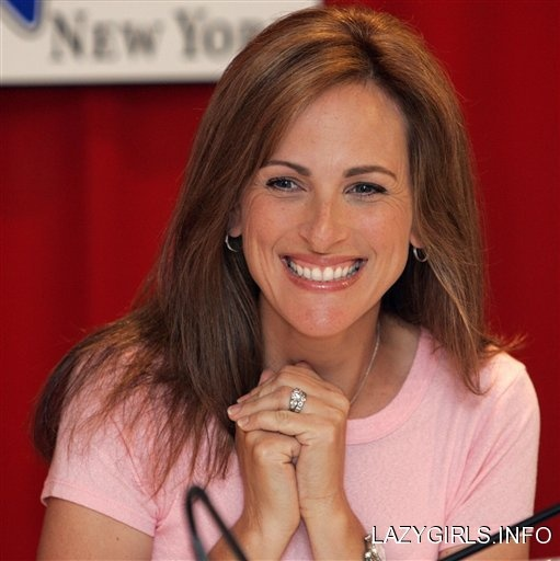 Marlee Matlin; Someone Deaf to admire and I am proud of her success in Show Business.  She is a good actress!