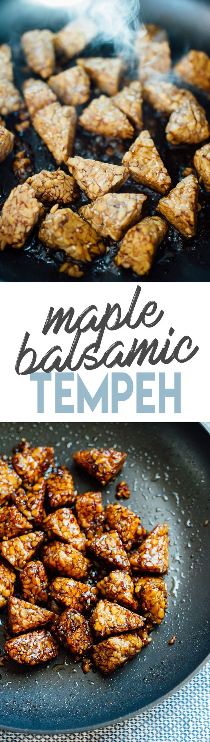 The BEST Maple Balsamic Tempeh