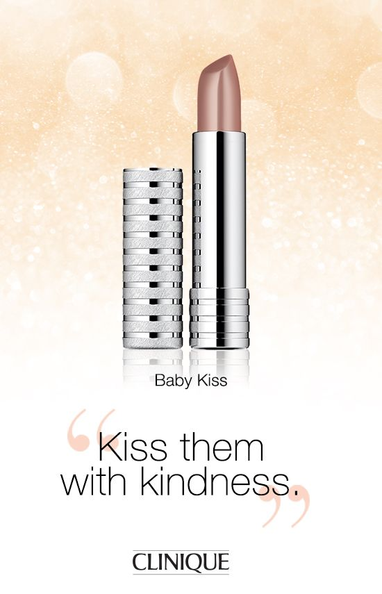 The Happy-Go-Lovely person in your life will love #Clinique Long Last Lipstick in Baby Kiss.  #Beauty #Gifts #Makeup