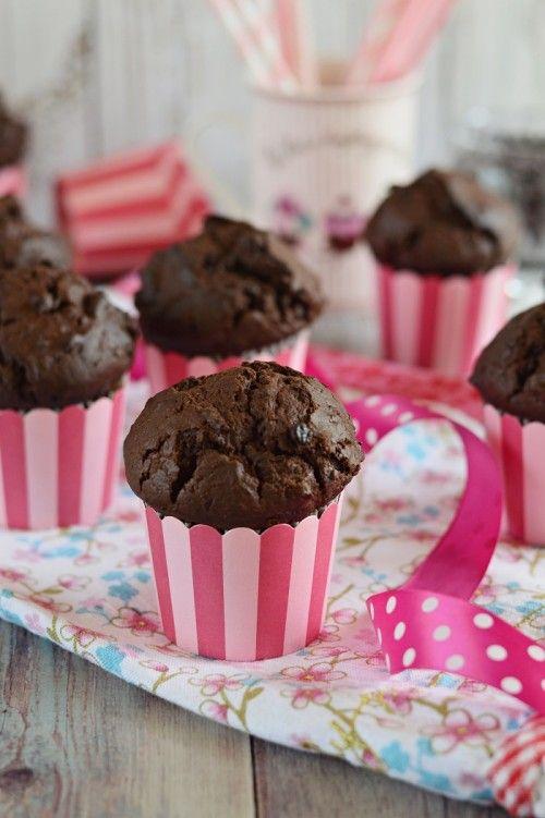 Dupla csokoládés, bögrés muffin