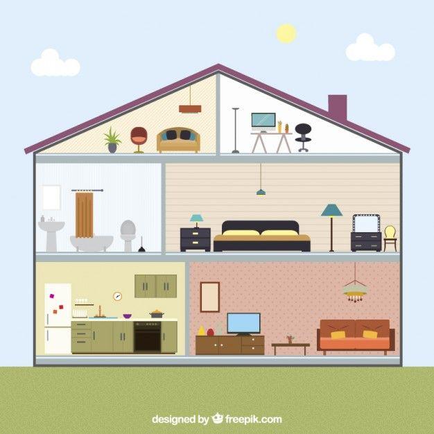 House Interior Free Vector