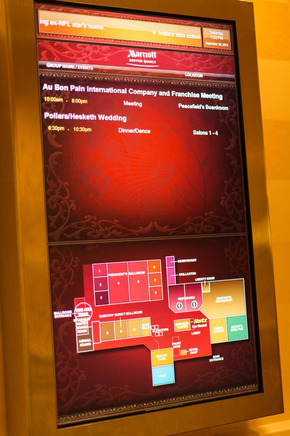 Can't find your meeting? The Boston Marriott Quincy Readerboards will help direct you with a map of our event space