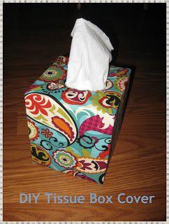 DIY Tissue Box Cover (no sew)