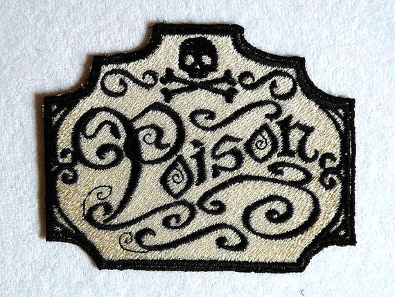 Apothecary Poison Iron on Patch by GerriTullis on Etsy, $12.00