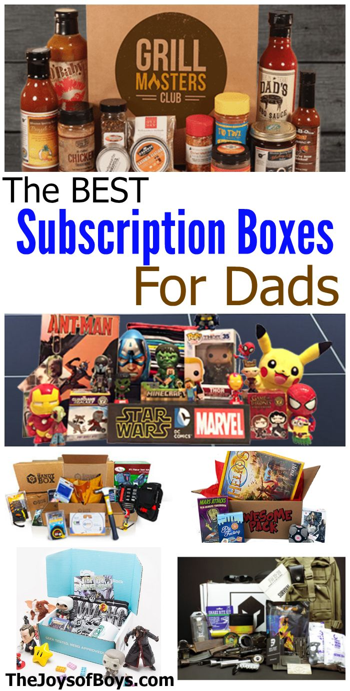 I never know what to give my dad or husband for gifts.  I love that these subscription boxes can be customized to the things they love!  So many great ideas!