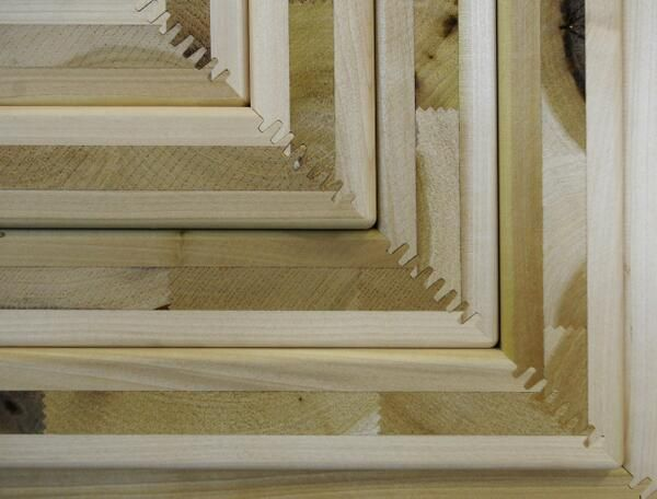Here's a detail of the finger jointed American Tulipwood used in #EndlessStair @Susan Alford Europe