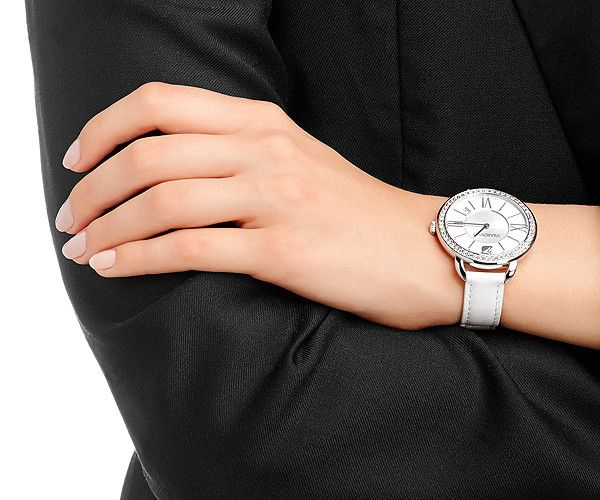 This sparkling and on-trend Swarovski Aila Day White Stainless Steel Watch is the perfect elegant everyday watch.