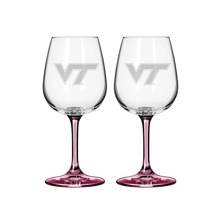 Virginia Tech Hokies 2-pc. Wine Glass Set, Multicolor